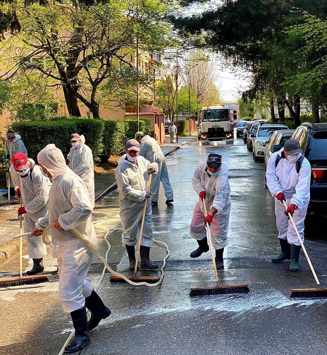 Igienizarea spatiilor publice si a cailor rutiere si pietonale din oras 20-04-15